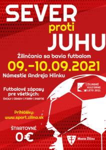 Podujatie Sever proti Juhu - Žilinčania sa bavia futbalom