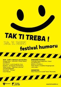Pozvánka na podujatie - TAK TI TREBA! Festival humoru